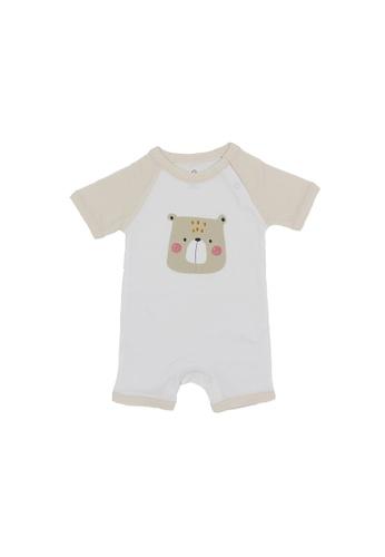 Baby Lovett white My Favorite Bear Romper 094E7KA9B1031AGS_1