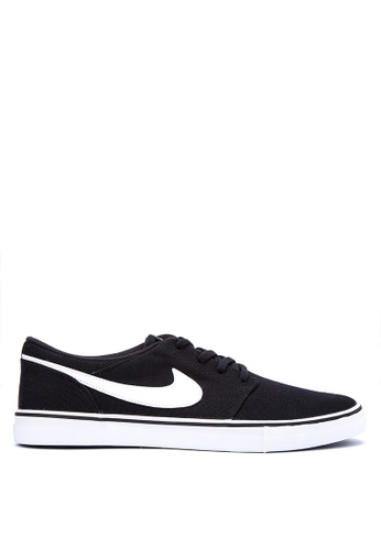 Nike black Men's Nike SB Solarsoft Portmore II Skateboarding Shoes NI126SH0KPS4PH_1