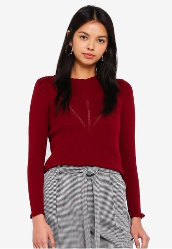Dorothy Perkins 紅色 Petite Cranberry Jumper 10E6FAAA7250FAGS_1