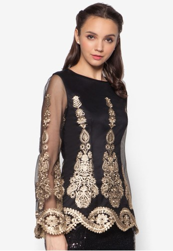 Placemezalora 台灣nt Lace Tunic Top, 服飾, 上衣
