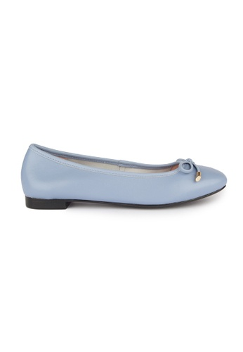 MAUD FRIZON blue Kid Leather Square Toe Ballerinas With Bow 80A58SH4DCABF8GS_1