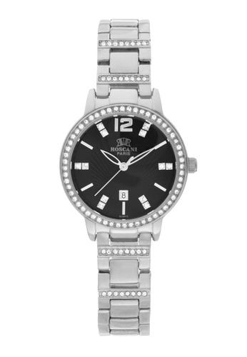 Roscani silver Roscani Gweondolyn B65 (Sunrise Dial) Stainless Steel Black Bracelet Women Watch 0A132AC97BCAB0GS_1