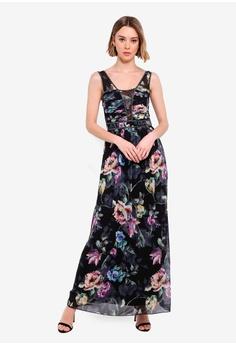4a86f0885b55e Little Mistress multi Floral Maxi Dress 67080AA12E5820GS_1