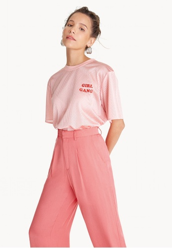 Pomelo pink GIRL GANG Excel Tee - Pink F315BAA054A63DGS_1