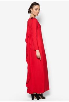 Back Drape Long Dress