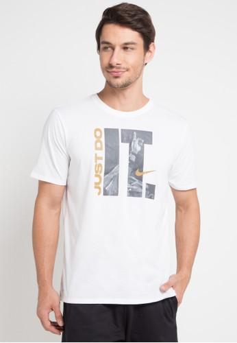 Nike white Nike Dry Basketball T-Shirt 09001AAD6C0B8AGS_1