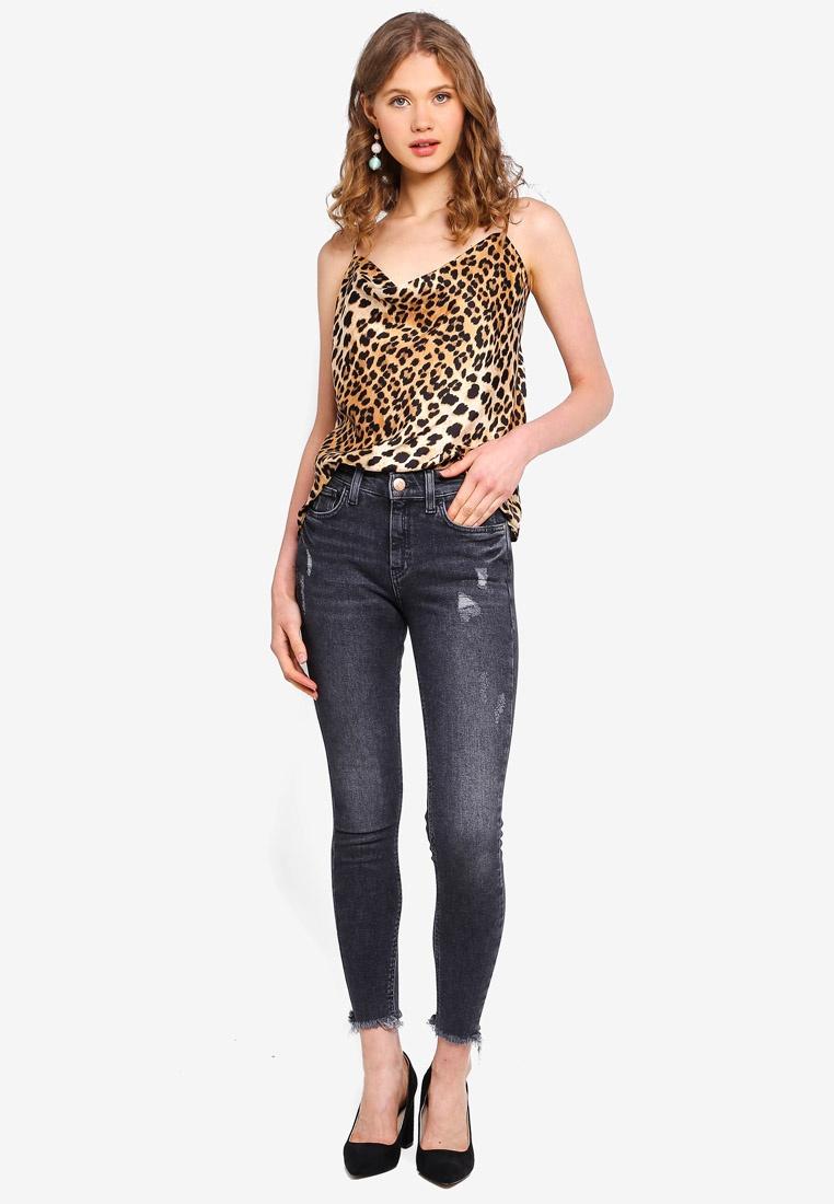 Jeans Washed Black River Super Black Island Skinny Amelie 6xxqSawX