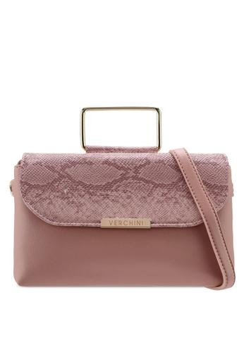 Verchini pink Verchini Premium Top Handle Sling Bag AF87CACA88408CGS_1