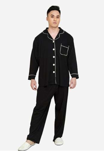 CURVA FABULOUS black Premium Cotton Pyjamas 6FE01AA2409538GS_1