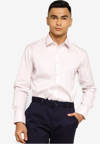 Sacoor Brothers pink Slim fit super comfort easy iron shirt 3DCC5AA1B2029EGS_1