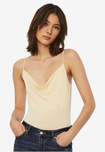 Vero Moda 米褐色 Frankie Singlet Bodysuit ED974AAFFEC6C9GS_1