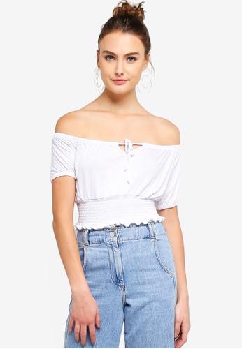 Cotton On white Vicki Tie Front Top 2FFFAAAA6F8643GS_1