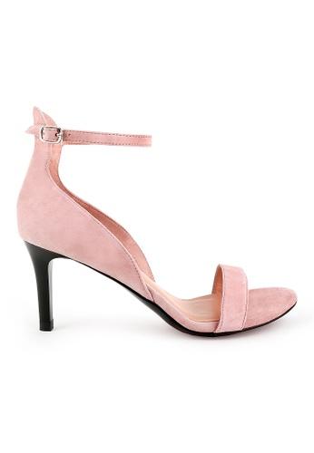 Joy & Peace pink Suede Heels JO458SH72YHBHK_1