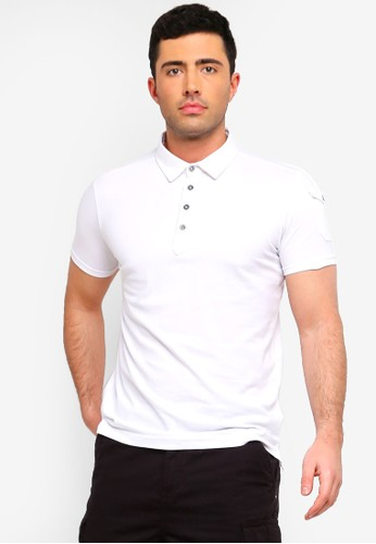 Brave Soul white and multi Pique Polo Shirt EB432AA2029C1CGS_1