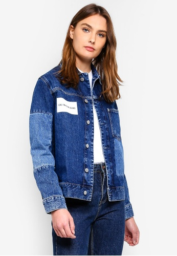 Calvin Klein blue As One Pocket Trucker Jacket F8231AABF2EDCBGS_1