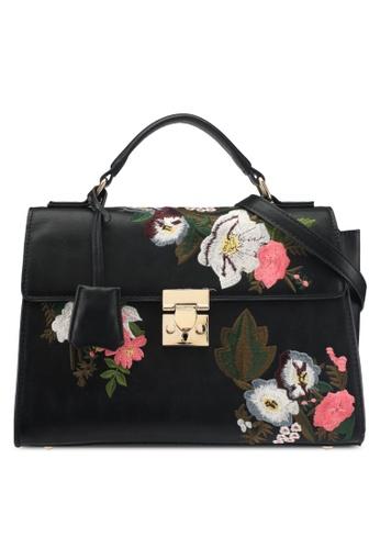 Mango black Floral Embroidery Bag D134FAC769E14CGS_1