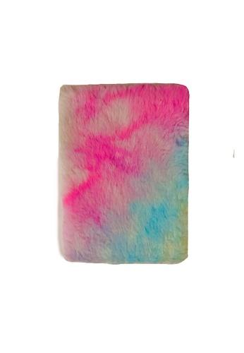 Glamorbit multi Rainbow Furry Notebook D68C9HL09B5537GS_1