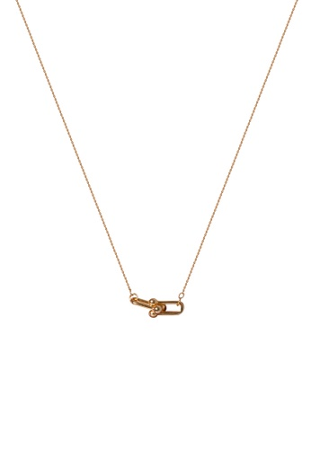 SKEDA gold Single Refined Chain Necklace A40CBACB4B05D7GS_1