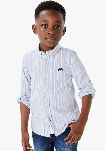 MARKS & SPENCER multi Cotton Striped Shirt 04F2DKA07E2D48GS_1