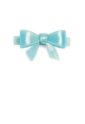 Glamorousky blue Simple and Cute Light Blue Ribbon Large Hair Slide A2284ACA18B391GS_1