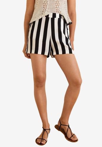 Mango black Printed Flowy Shorts 44051AA22004DEGS_1