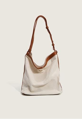 Lara brown Women's Capacious Plain Magnetic Closure Leather Shoulder Bag Tote Bag - Light Brown 36C94AC9E61316GS_1