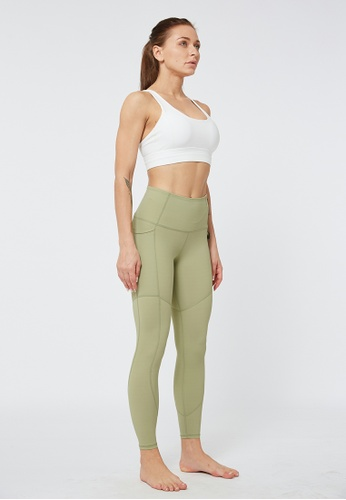 HAPPY FRIDAYS Nude Cropped Sports Tights QF2147 B3181AA1CA16C2GS_1