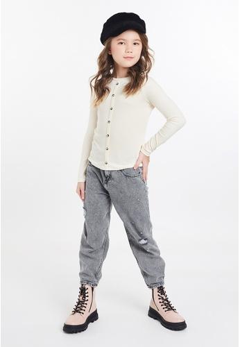Gen Woo white Long Sleeved Rib-knit T-shirt By Gen Woo B0147KA2062678GS_1
