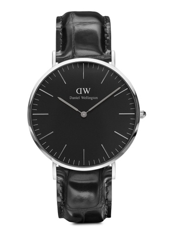 Daniel Wellington black and silver Classic Reading Black 40mm Silver Watch CFCABACB5C0A0BGS_1