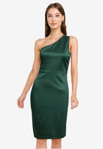 ZALORA OCCASION green Toga Dress With Side Slit 58B0EAAB3D328AGS_1