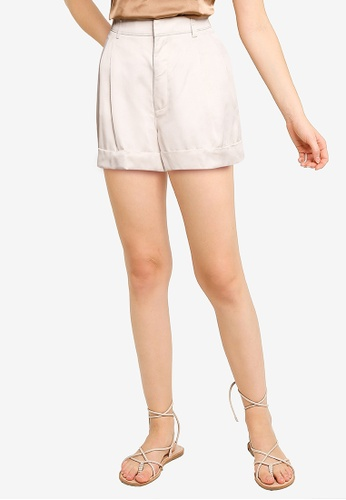 Abercrombie & Fitch beige Tailoring Shorts 3B38AAA41C0946GS_1