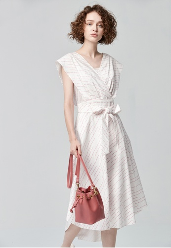 iROO multi Midi Printed Dress F061DAA2D8C644GS_1