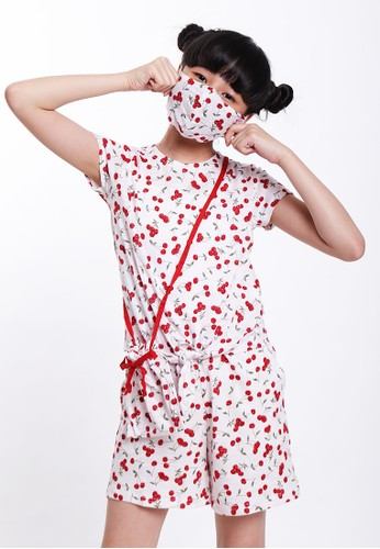 EXIT GIRL red Cherry Fullset Homewear 316B5KA7EA75E0GS_1