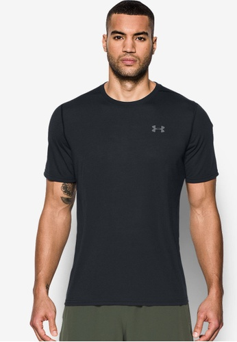 Under Armour black UA Threadborne Short Sleeve Top UN337AA0RNLHMY_1
