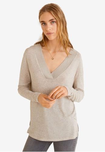 Mango beige Lightweight Knit Top 9E91DAA949A4BAGS_1