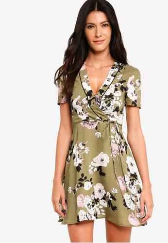 ZALORA multi A-Line Wrap Dress 557BFAADF2FB66GS_1