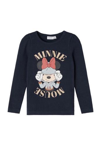 NAME IT navy Minnie Mouse Long Sleeves T-Shirt CDCD2KA13C8653GS_1