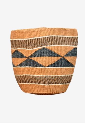 Propstation Tamaduni Fine Weave Geometrical Sisal Planter Basket - AB07 01396HL183694CGS_1