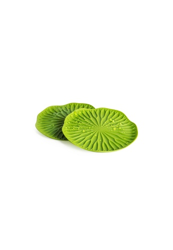 Qualy Qualy Baibua Coaster Set (Green) F100CHLEB991A9GS_1