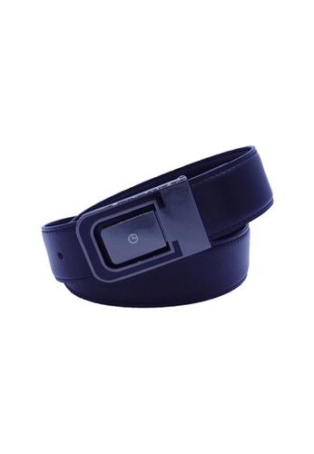 Goldlion black Goldlion Men Leather Plate Belt - Black 28241AC0F1C45FGS_1