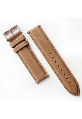 PICONO Watches brown Quick Release Brown Leather Strap PI771AC2VUS8HK_1