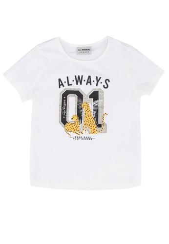 LC Waikiki white Girl's Printed Cotton T-shirt 359E2KA6A1DB02GS_1