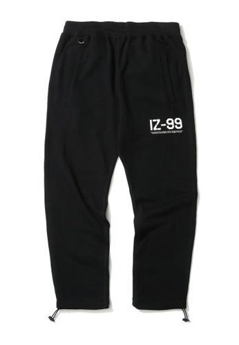 izzue black Army drawstring hem sweatpants AE97BAAD3DD3EDGS_1