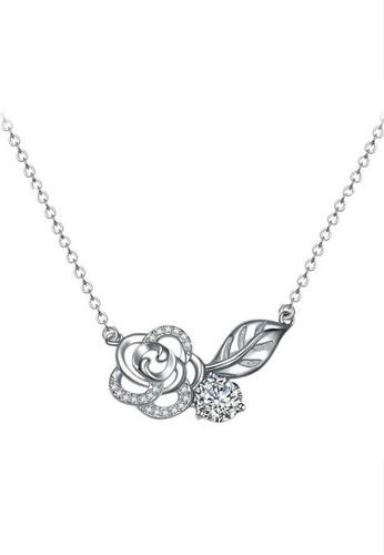 Vivere Rosse silver Rosey Romance Necklace-Silver VI014AC79YZOMY_1