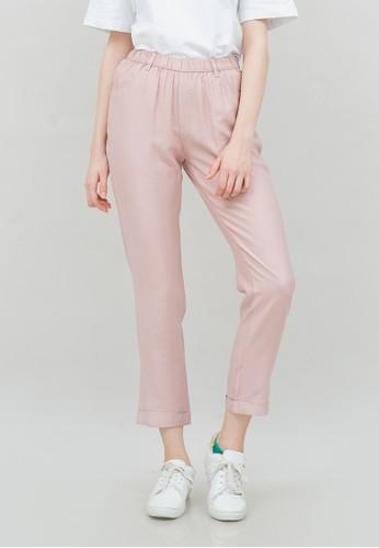 IHANG pink IHANG Viscose Jegging Pants Pink F509BAAD7CD575GS_1