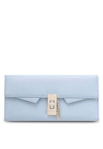 NUVEAU blue Pebbled Textured Long Wallet NU245AC0RKWCMY_1