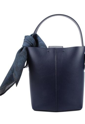RO Bags navy RO Terranova Felucca Mini Top Handle Bucket Bag in Navy/Light Purple 9ABBAAC93E87BDGS_1