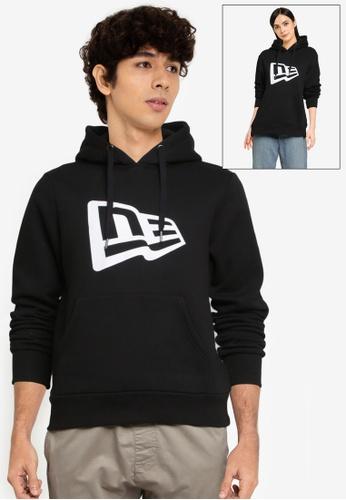 NEW ERA black Flag Logo Po Fleece Hoodie 80132AAD6126E7GS_1