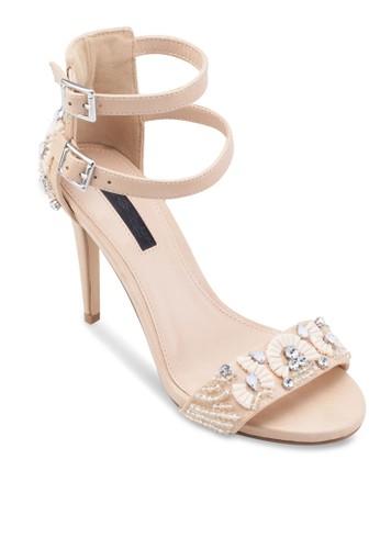 Carmel 寶石雙繞踝帶高跟鞋esprit官網, 女鞋, 鞋