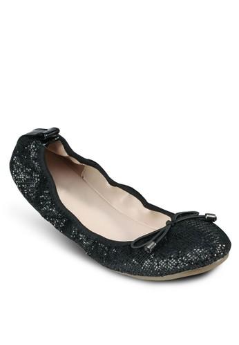 蝴蝶結閃飾娃娃鞋,zalora時尚購物網的koumi koumi 女鞋, 鞋